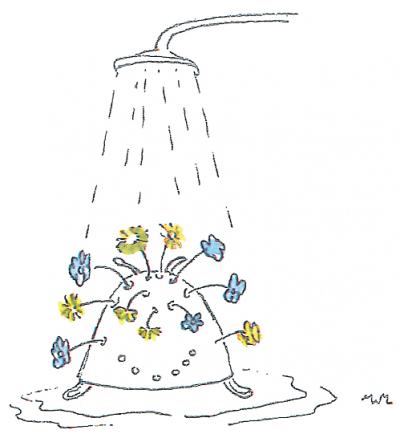 onder de douche vergiet
